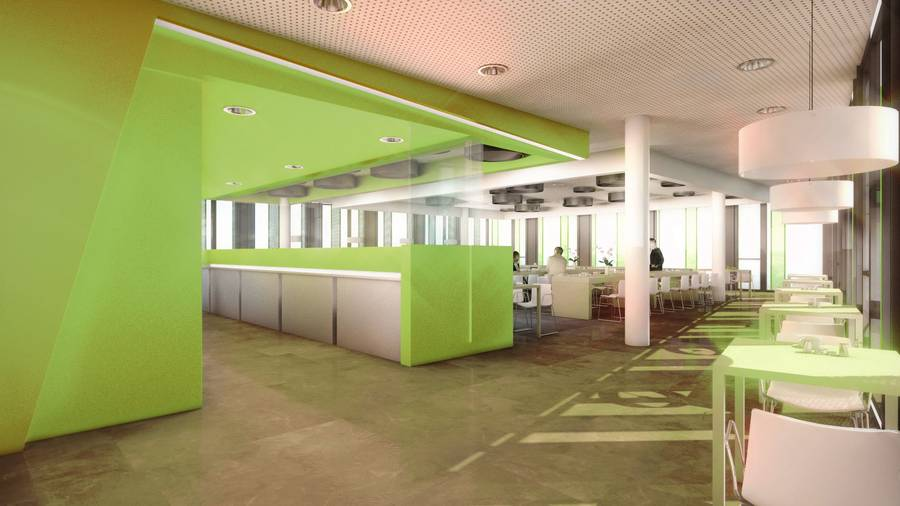 Cafeteria im neuen IMED-1