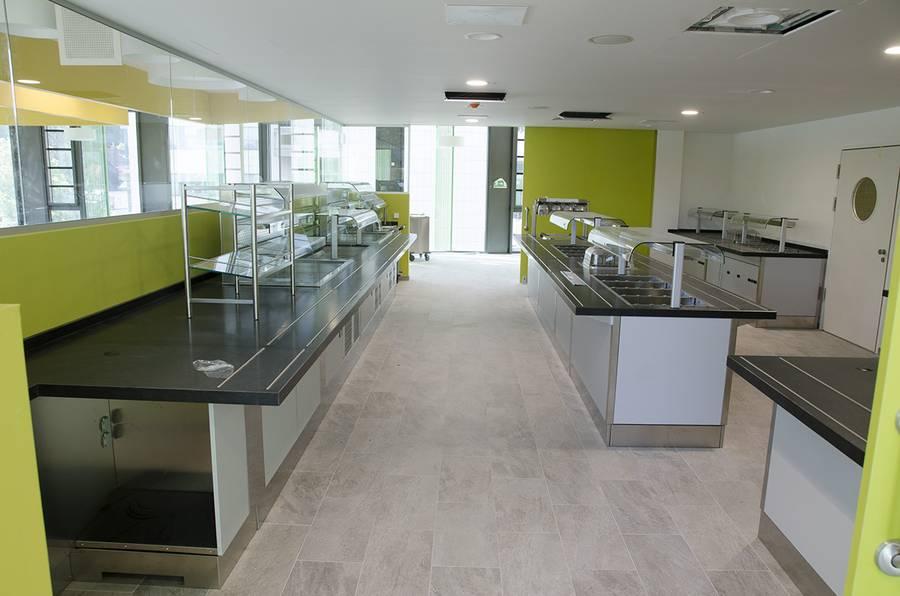 Cafeteria im neuen IMED