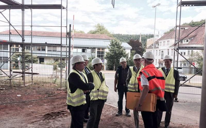 SaarLB besucht Baustelle