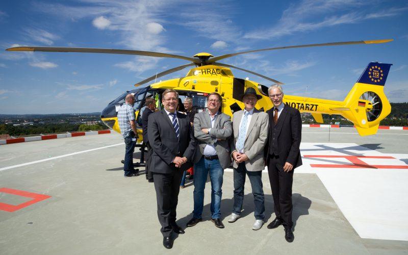 Neuer Hubschrauberlandeplatz am UKS in Homburg